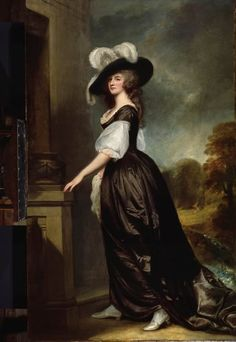 Lady Milnes, 1788 by George Romney Love the black silk gown - unusual color choice and very striking!