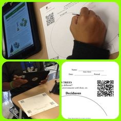 Great blog with lots of ideas for using iPads in the Middle School Science class. This one uses QR codes.