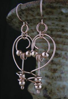 Rose Goldfill Wire Earrings Rose Goldfill by LoneRockJewelry