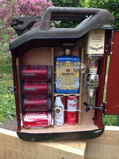 Upcycled Jerry Can * Mini Bar * Ideal Gift * Camping Accessory * Custom Made * in Collectables, Breweriana, Novelties   eBay!