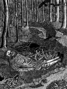 Theodor Kittelsen, Fattigmannen (The Pauper), c. Theodore Kittelsen, Black Metal, Most Popular Artists, Folk, Demonology, Magic Art, Archetypes, Fantasy Creatures, Dark Art