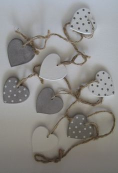 Hearts, use them separately or make a garland