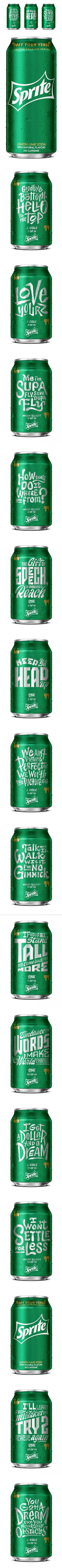 Sprite Lyrical Cans — The Dieline | Packaging & Branding Design & Innovation News