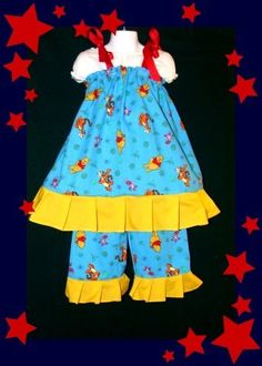 Winnie The Pooh Outfit 5T-5 girls NEW Custom Boutique & Maching Hair Bow SO CUTE -perfect for a disney trip! for sale now on ebay. $8.50 for the set. SEARCH EBAY FOR ITEM NUMBER  200924393567