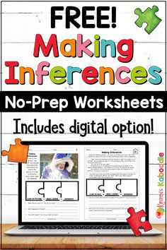 Inference Activities, Speech Therapy Activities, Reading Passages, Reading Comprehension, Comprehension Strategies, Reading Intervention, Reading Response, Making Inferences, Third Grade Reading