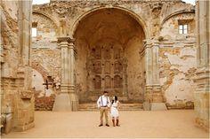 Southern California Bride: Vintage San Juan Capistrano Mission Engagement Session via @thesocalbride