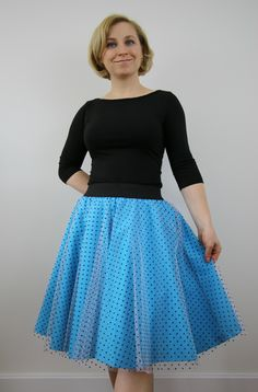 A personal favourite from my Etsy shop https://www.etsy.com/listing/522792831/prom-skirt-blue-tulle-circle-skirt-for