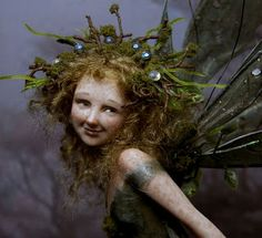 Eijenia ~  A fairy doll made from polymer clay.  This artist is amazing! fairystudiokallies.blogspot.com