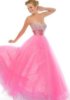 Tulle Princess Sweetheart Sleeveless Empire Dresses For Prom - 1300104785B - US$112.99 - BellasDress