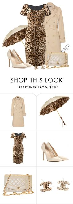 """""""Dolce & Gabbana leopard print dress"""" by dgia ❤ liked on Polyvore featuring A.P.C., Persol, Dolce&Gabbana, Gianvito Rossi and Chanel"""