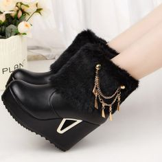 2013 boots winter boots winter shoes wedges high heeled shoes platform white medium leg boots platform-inBoots from Shoes on Aliexpress.com