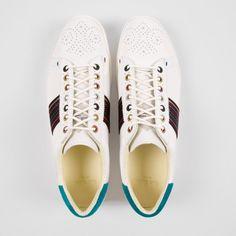 Paul Smith Men's Shoes   White Leather Rabbit Trainers With Suede Trims - $285.00 Paul Smith, White Leather, Men's Shoes, Trainers, Rabbit, Men's Fashion, Sneakers, Style, Tennis