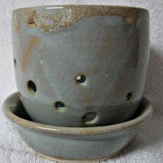 Orchid Planter and Saucer Stoneware
