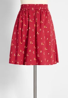 Red Skater Skirt, Skater Look, Tall Women Fashion, Womens Fashion, Ditsy, Exclusive Collection, Modcloth, Skirt Fashion, A Line Skirts