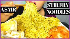 ASMR:STIRFRY NOODLES & EGGS 먹방 RAMEN MUKBANG *BIG BITES* EATING SOUNDS