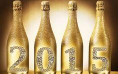 pezsgő, új, 2015 arany betűkkel, új, 2015 boldog új évet 2015