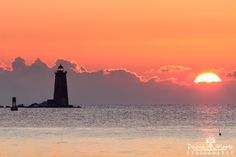 Whaleback Lighthouse at Sunrise, Kittery, Maine To see more of my images, purchase prints, or arrange for stock licensing, visit www.dawnamoorephotography.com. If you like this image, please share it with your friends!