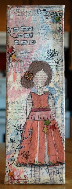 Love Sara Case - Local artist and instructor for The Paperie - She Art Girl 1