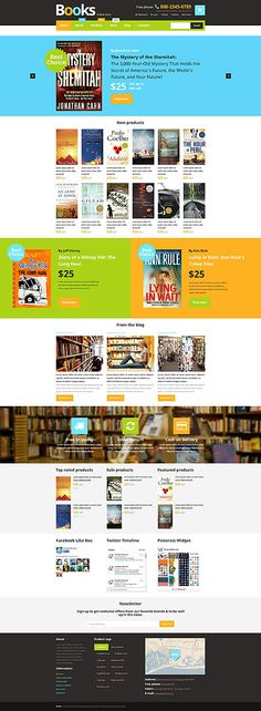 Books Online Store #WooCommerce #template. #themes #business #responsive