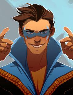 batman doesn't do ships Damian Wayne, Dc Comics, Nightwing And Batgirl, Richard Grayson, Univers Dc, New Teen, Bat Family, Dc Heroes, Teen Titans