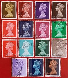 GB ##stamps Set of 15 Pre-Decimal Machins 1d to 1'9 USED