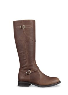 Flore Brown Leather boots (custom calf width)
