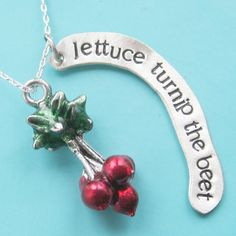 Lettuce Turnip The Beet Necklace by sudlow on Etsy, $45.00