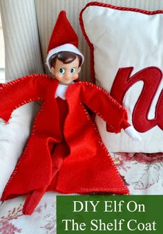 DIY Elf On The Shelf Felt Coat Tutorial