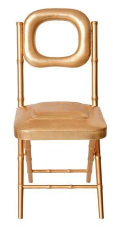 ROUGE ABSOLU - Chaise pliante atypique et confortable - Collection Galante