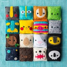 Felt Faces: Artist Becky Margraf crafts 100 little faces for 100 consecutive days Felt Crafts Diy, Felt Diy, Cute Crafts, Arts And Crafts, Sewing Toys, Sewing Crafts, Sewing Projects, Felt Decorations, Felt Patterns