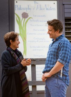 Alice Waters takes Jamie Oliver on a tour of The Edible Schoolyard. A amazing blog post about his experience