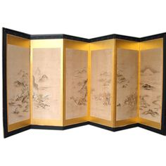 1stdibs | 19th Century Chinese Hand Painted Landscape Screen