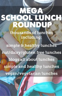 Great collection of lunch ideas, including allergen free ideas!