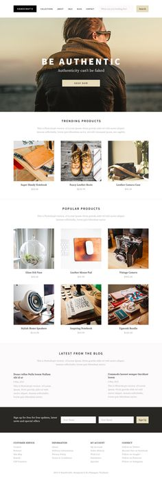 Design a Shopify Theme for Handcrafted Goods in Photoshop - Tuts+ Web Design Tutorial