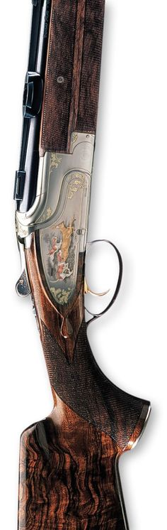 The Browning Custom CCS 25 is elegance incarnate, available in sideplate and box-lock versions and in different calibers. This high-precision gun will be a faithful partner in every unforgettable hunting memory. Skeet Shooting, Trap Shooting, Hunting Rifles, Hunting Gear, Guns And Ammo, Weapons Guns, Beretta Shotgun, Sporting Clays, Gun Art