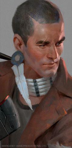 Character portrait - Freedom fighter, Darius Zablockis on ArtStation at https://www.artstation.com/artwork/character-portrait-freedom-fighter