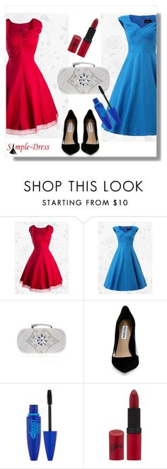 """""""SimpleDress 21"""" by a-mariam ❤ liked on Polyvore featuring Steve Madden, Maybelline, Rimmel, vintage and simpledress"""