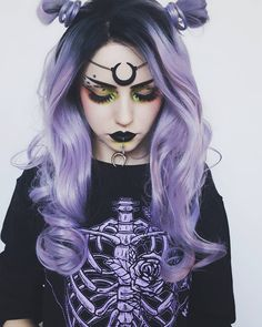Dark beauty casts a beauty hex over us in matte black lips and 'Nirvana' lashes and we want to stay in it forever. If you loved our 'Fire Walker' lashes, you will love 'Nirvana' lashes! Gothic Hairstyles, Cool Hairstyles, Grunge Hairstyles, Scene Hairstyles, Dark Beauty, Hair Colorful, Color Fantasia, Pastel Goth Fashion, Pastel Goth Hair