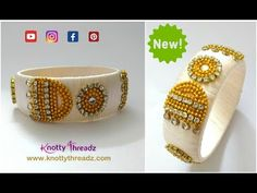 Jimikki Kammal Song Inspired Bangle | Silk Thread Kada Bangle New Design | www.knottythreadz.com - YouTube