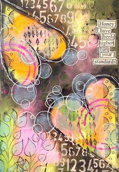 ART JOURNAL PAGE | HAPPY | Nika In Wonderland Art Journaling and Mixed Media Tutorials