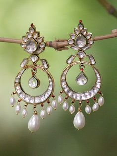 kundan jewellery chand bali - Google Search