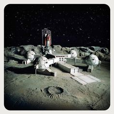 UFO (1970-1971) Created by Gerry AndersonSylvia Anderson and Reg Hill. Moonbase miniature FX work by Derek Meddings and his crew #ufo #gerryanderson #sylviaanderson #reghill #derekmeddings #miniature #modelmaking #moonbase #vfx #1970 #1971 by glazyuk