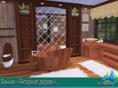 "Corporation ""SimsStroy"": The Sims 4. Bathroom ""Amber tree"""