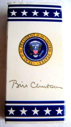 President Bill Clinton Souvenir M Candy Box by QVintage on Etsy, $30.00