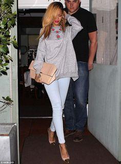 Very Ladylike, i love this look on Rihanna.
