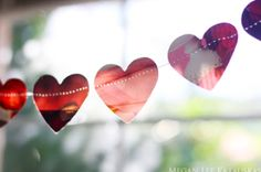 Magazine Heart Garland - Mixes heart idea and Collage idea like Rookie Mag