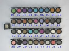Newest mac makeup 36 color single eye shadow