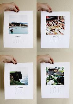 2014 Printable Calendar // Take a great photo from each month of the year and print them on high quality paper for a calendar that keeps you inspired.