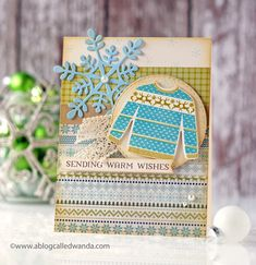 Sending Warm Wishes Card by Wanda Guess for Papertrey Ink (November 2017)