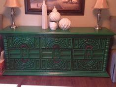 Beautiful Vintage Green Dresser/ Side board/ by Bleak2ChicDesigns, $150.00